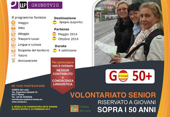 volantino volontariato senior europe50 cemea